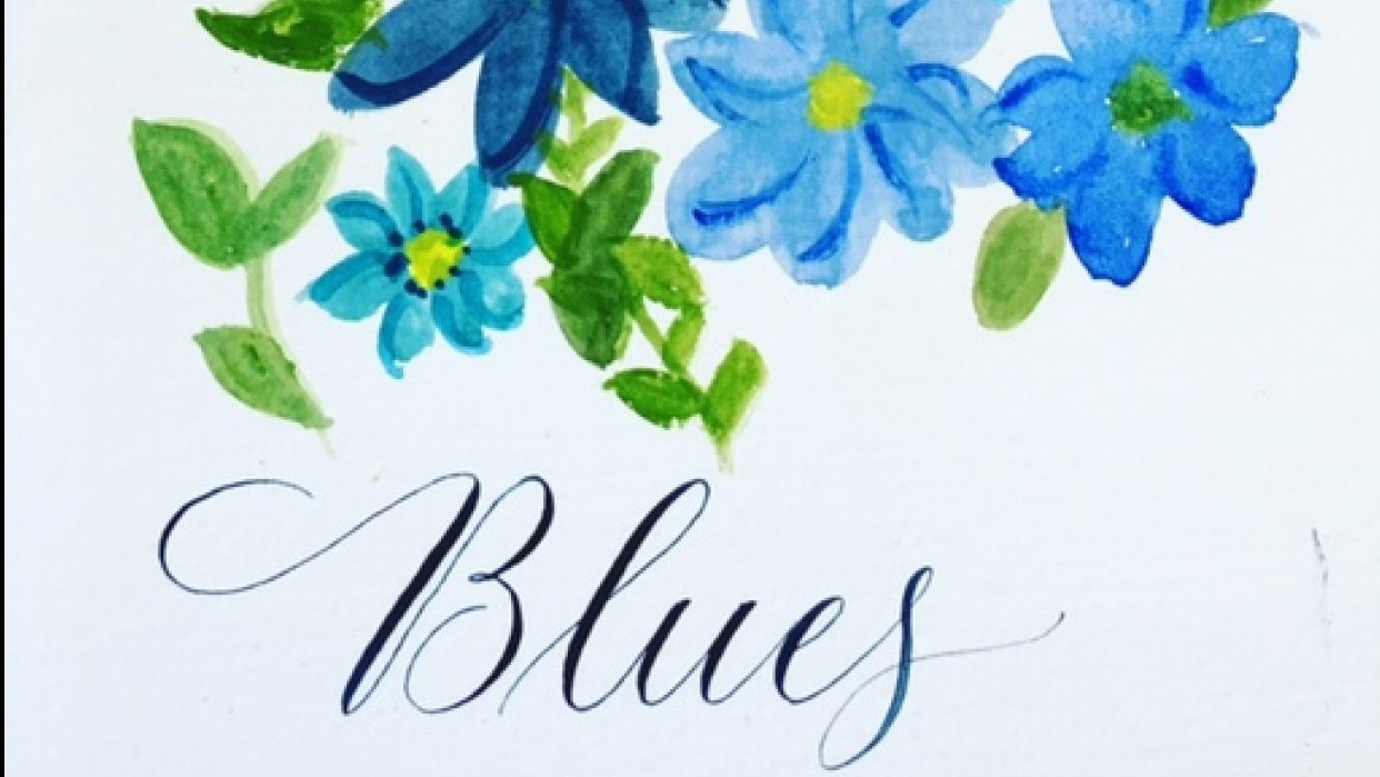 Blue Flowers - student project