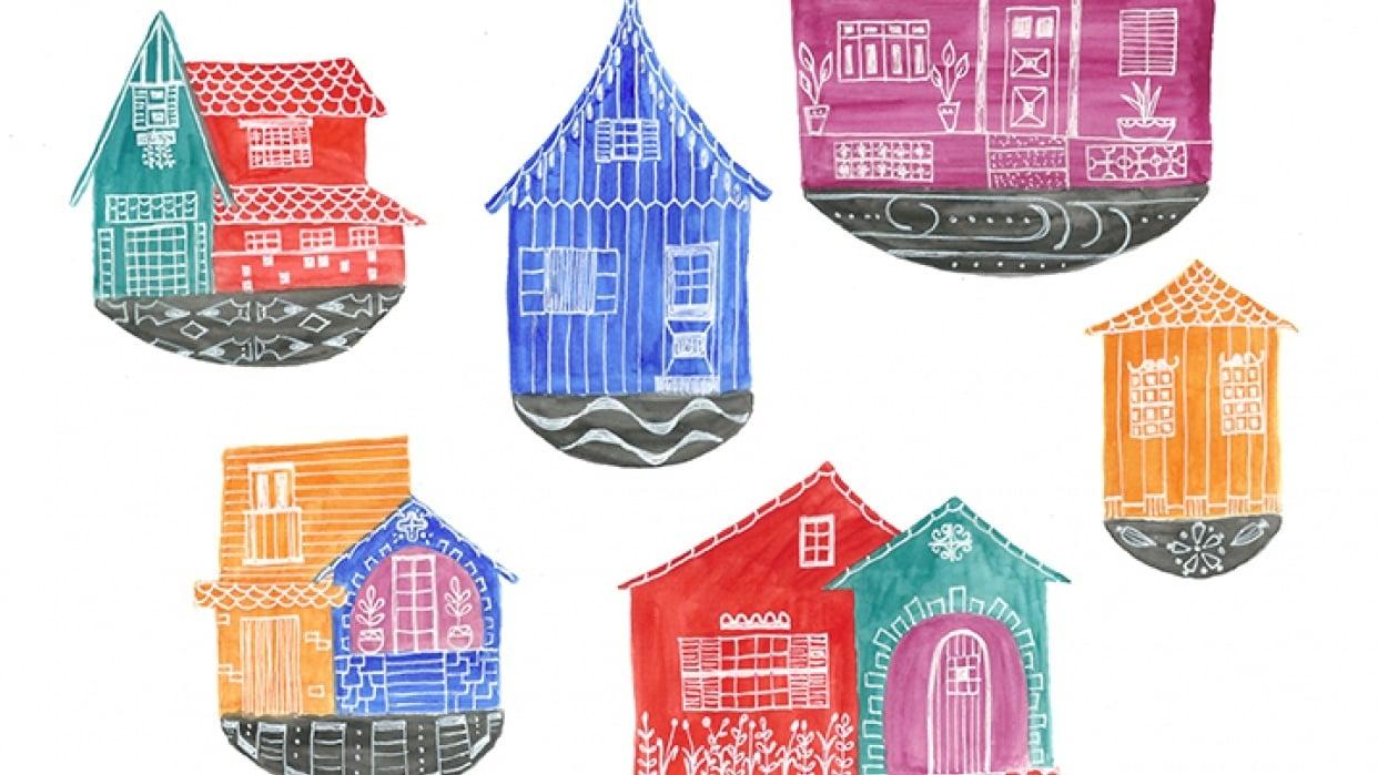 Little houses' souvenirs - student project