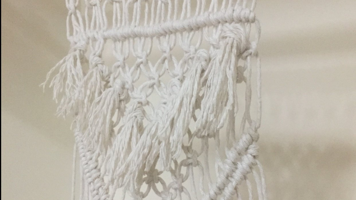 Macrame project with fringe!  - student project