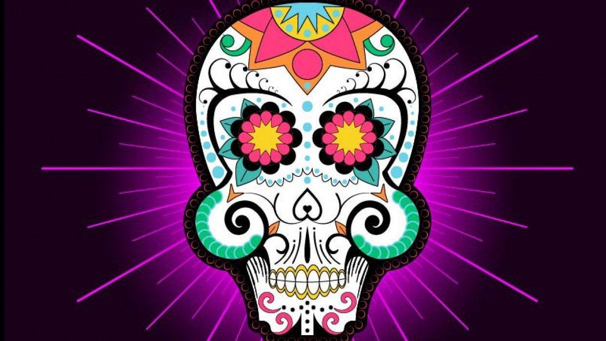 Day of the Dead Skull (Real Time Mirror Drawing ) - student project