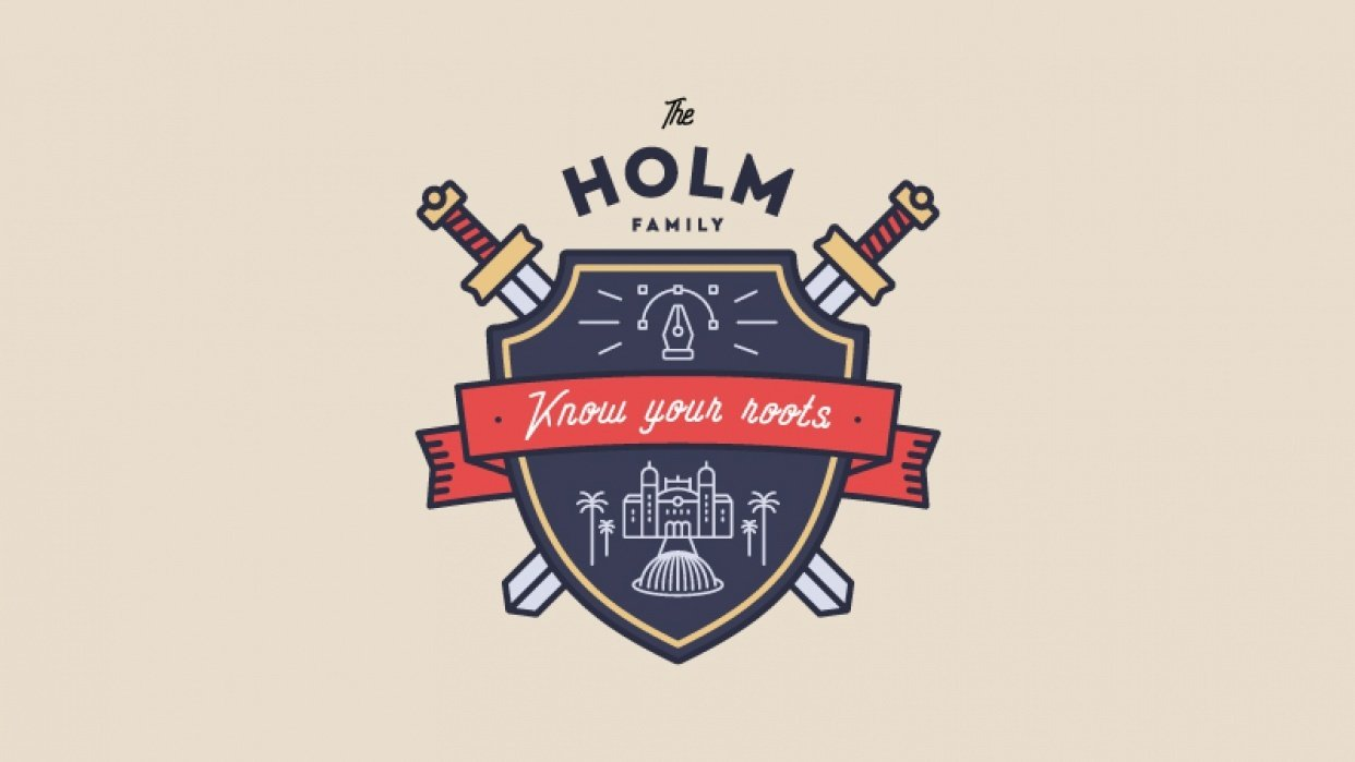 The Holm family - student project