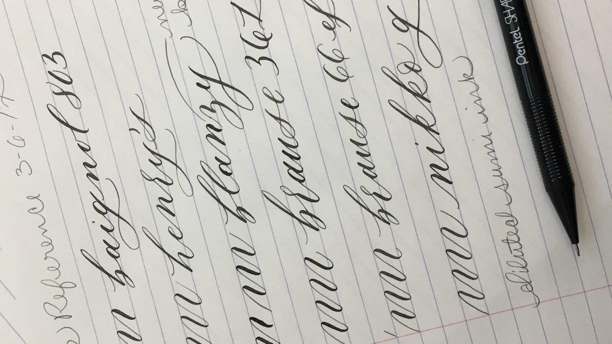 Calligraphy Nib Reference  - student project