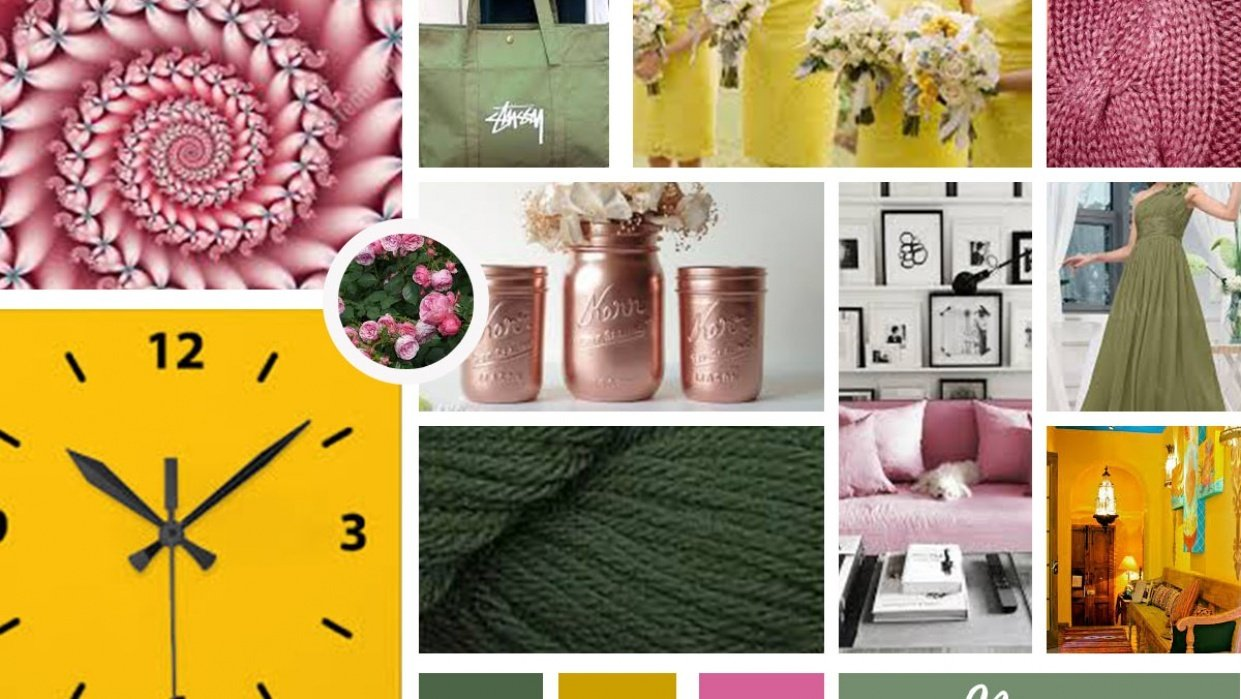 Color Inspiration Mood Board - student project