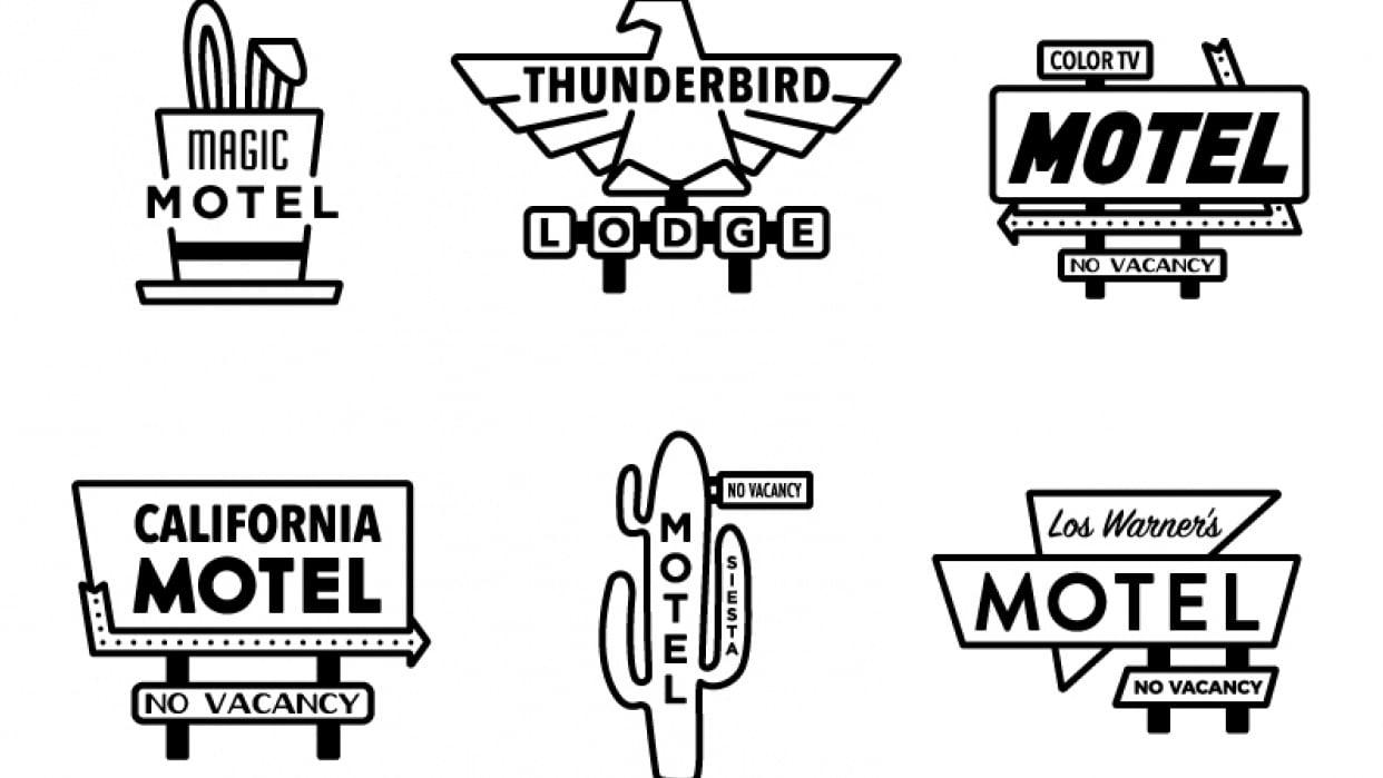 Vintage Motel Signage - student project