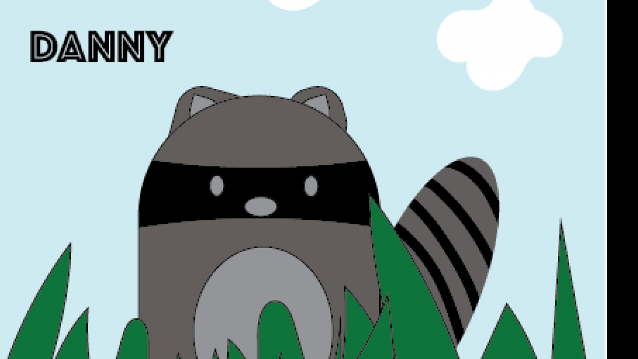 Raccoon Pillow for Danny - student project