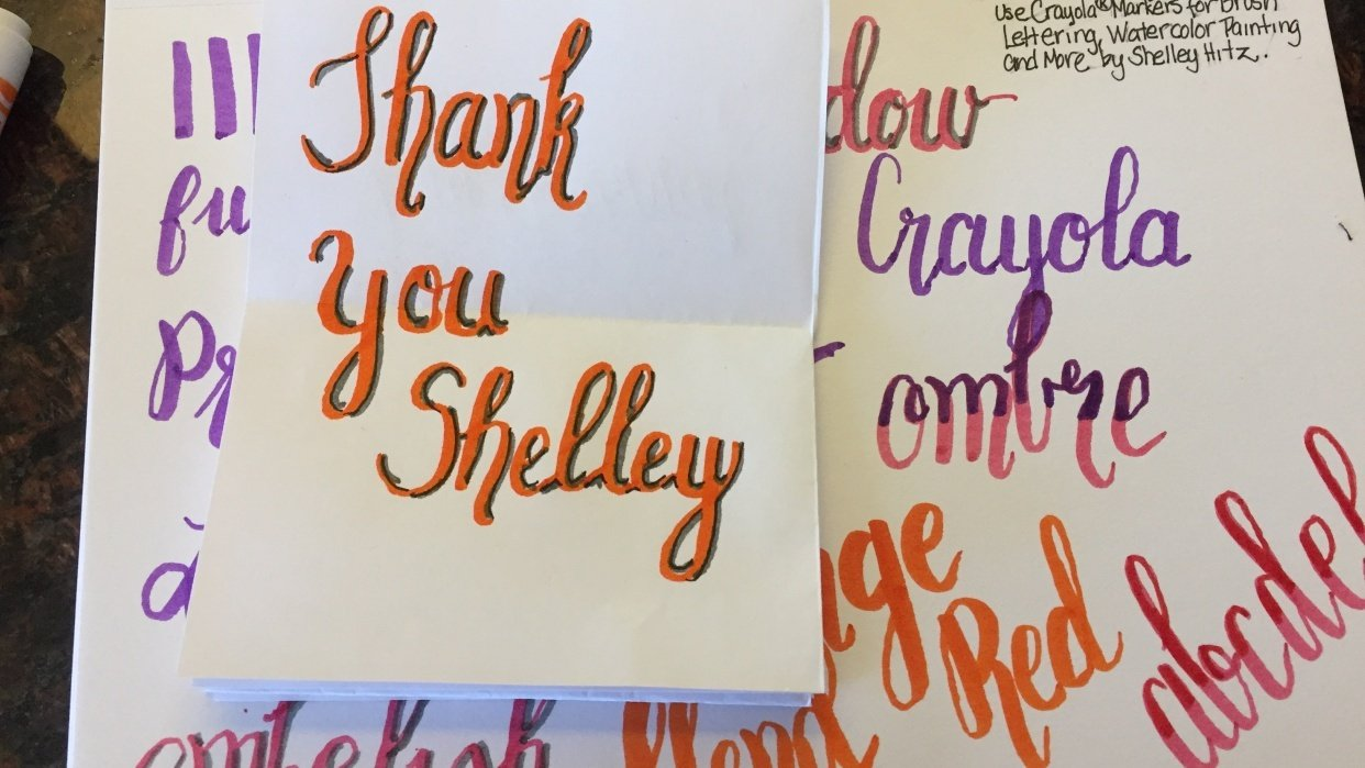 Having Fun Learning Lettering - student project