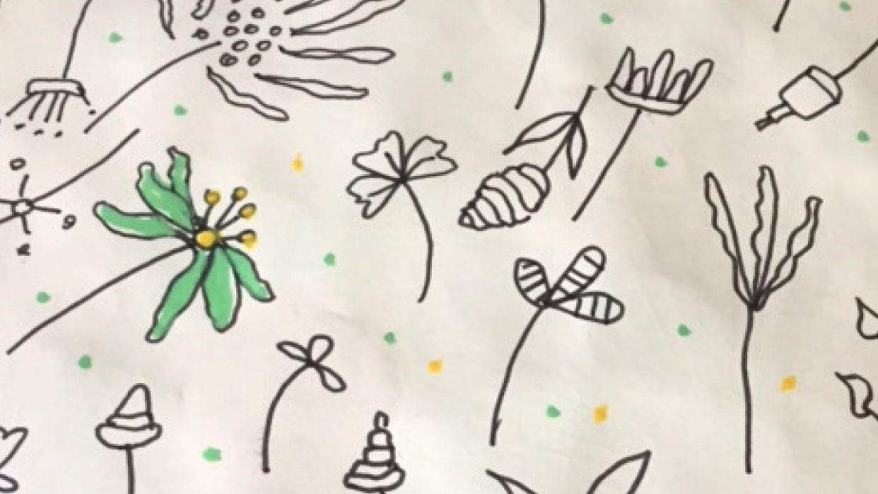 Flower doodles - student project