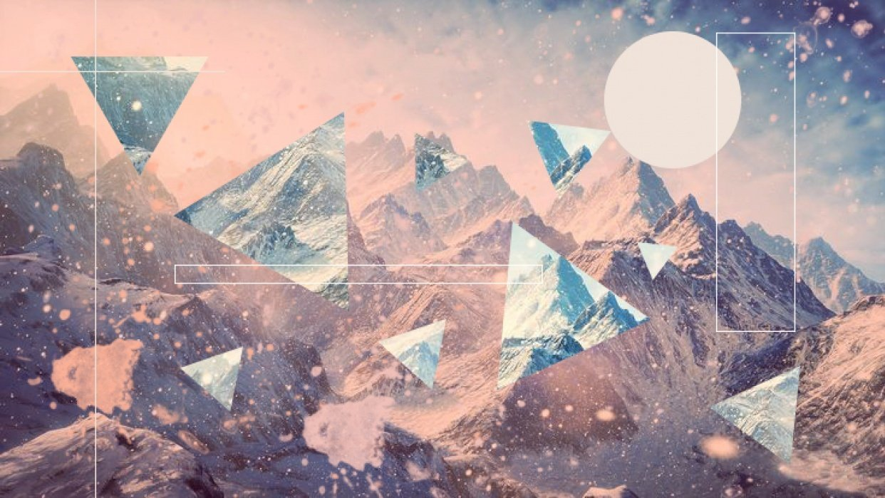 Mountain collage - student project