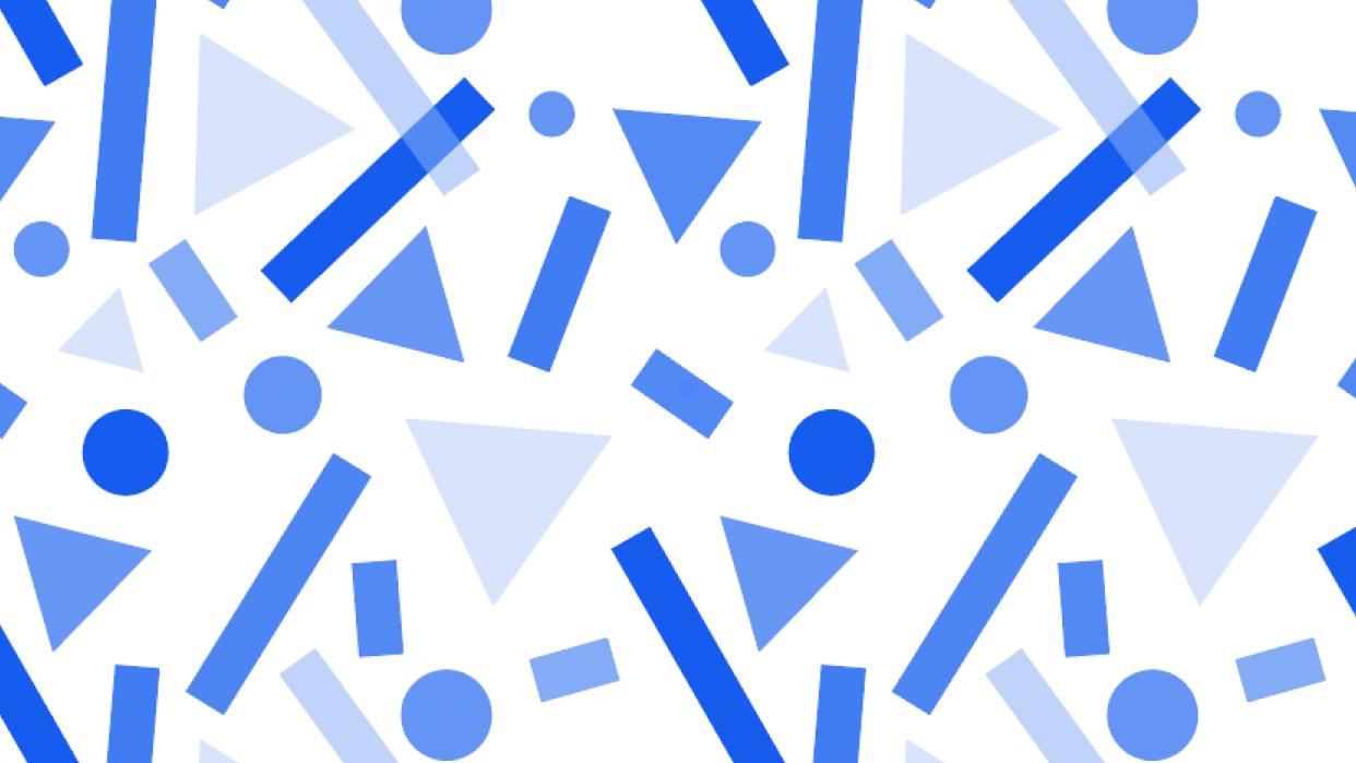Geometric shapes pattern - student project