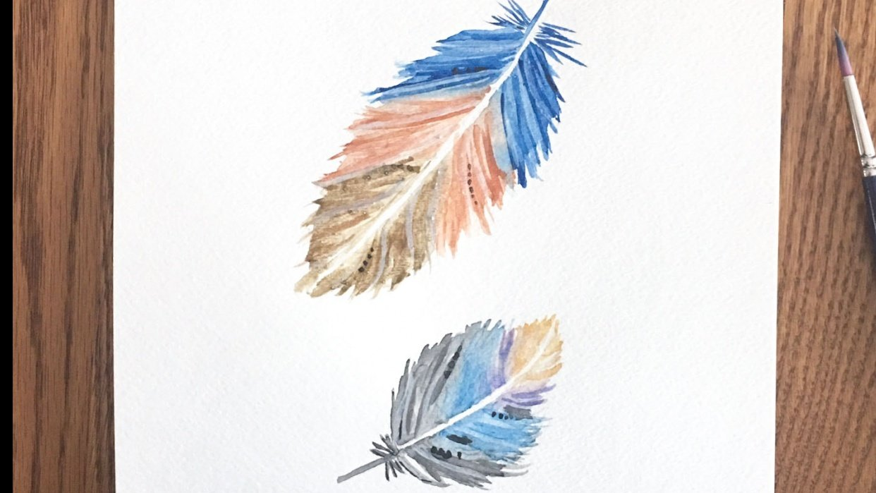 Watercolour Feathers Try 1! - student project