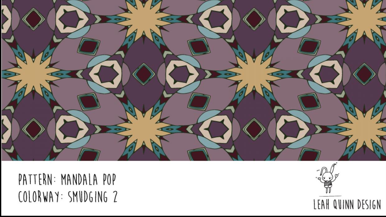 Mandala Pop Pattern  - Recolor Using Several Methods - student project