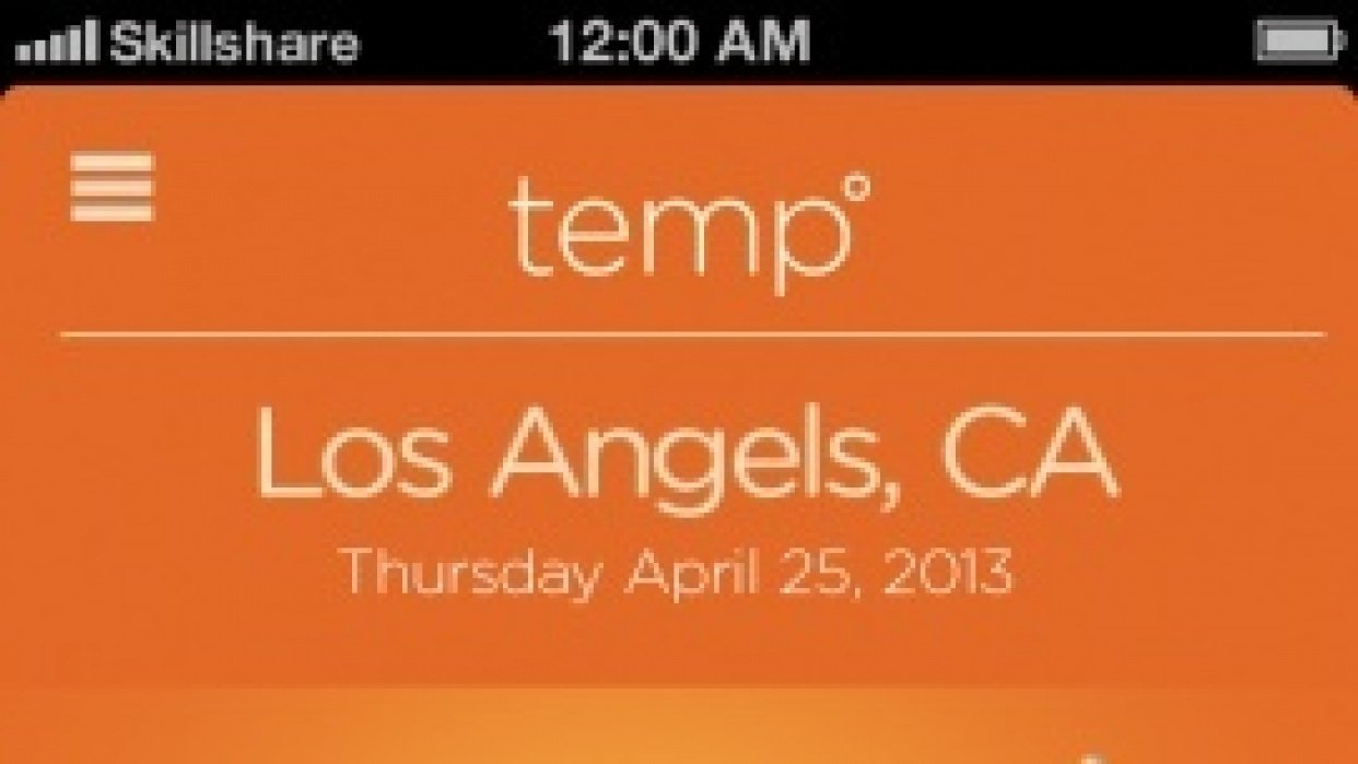Lucie - Temp App - student project