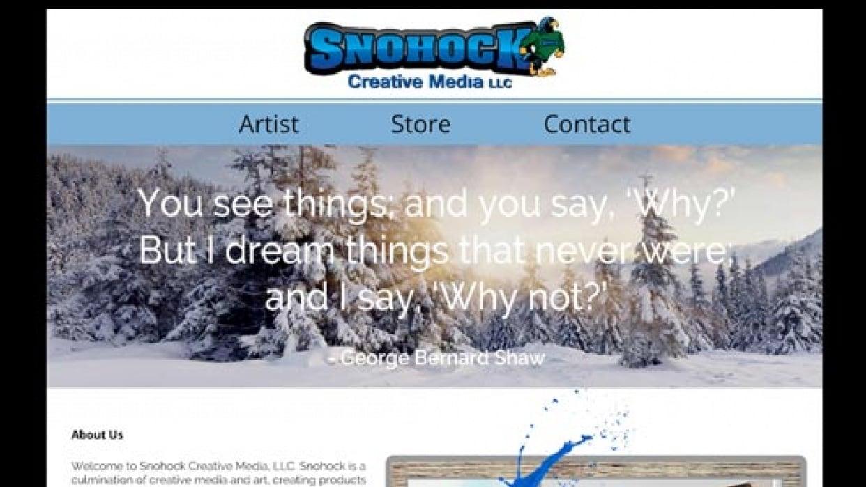 Website Redesign Snohock Creative Media LLC - student project