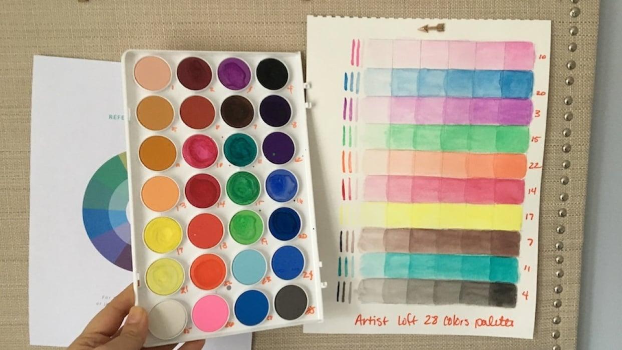 Artists Loft 28 Colors Palette Opacity Swatches - student project