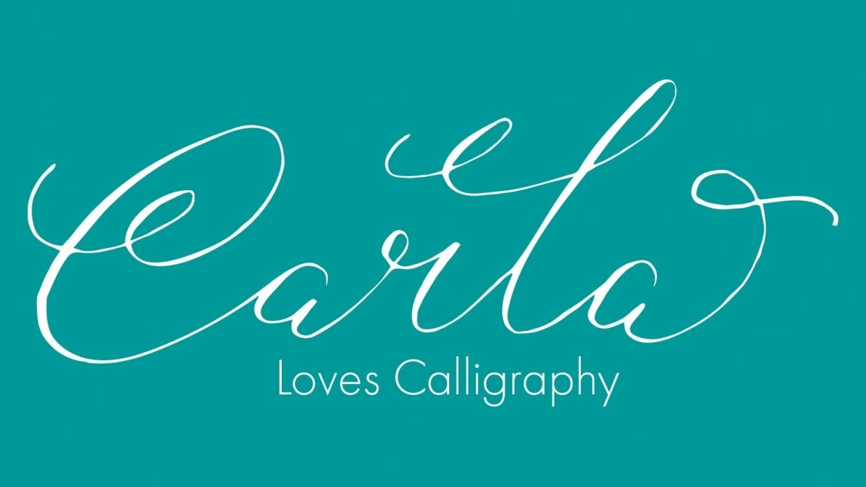 Carla Loves Calligraphy Logo Design - student project