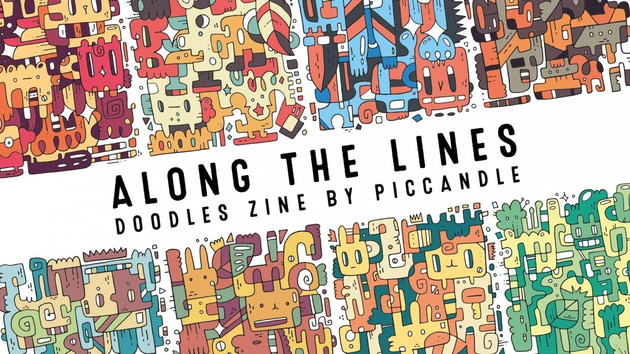 Along the Lines | Colorful Doodles Zine - student project