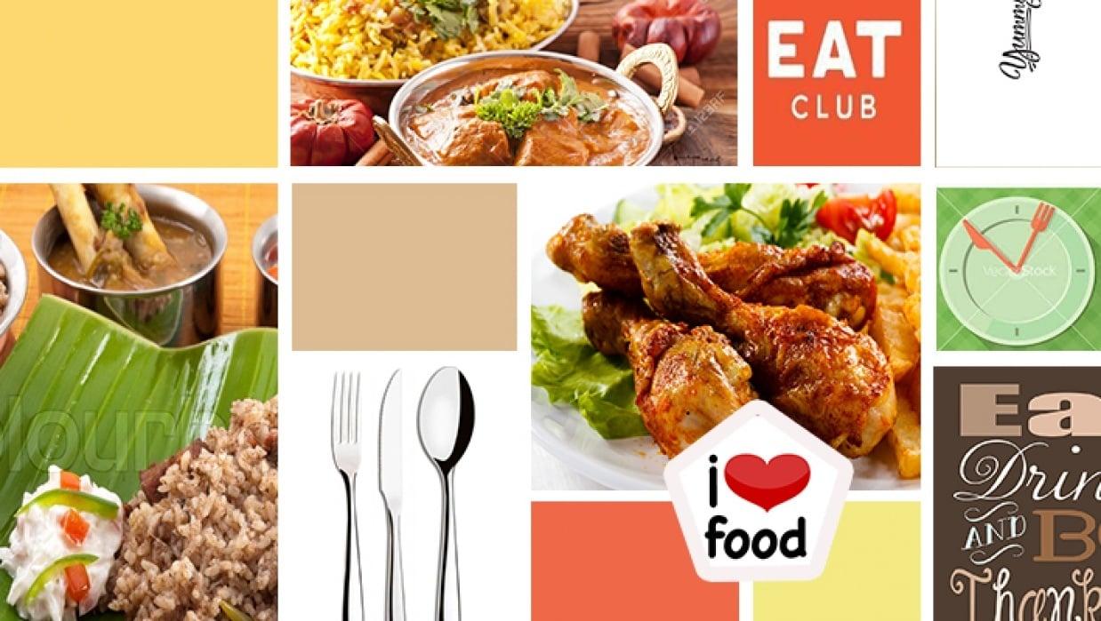 Mood Board - I love food - student project