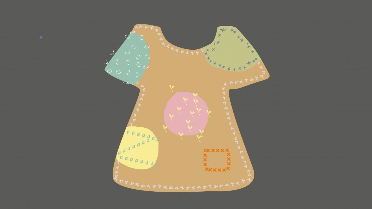 little girl's dress - student project