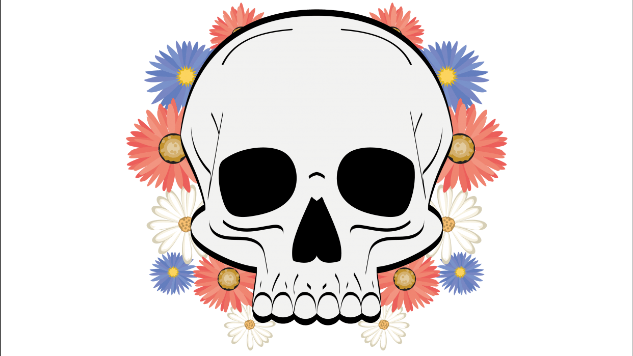 Flowery Skull - student project