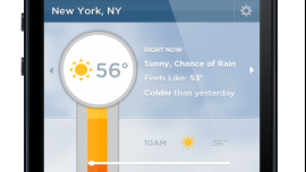 Color Bar Weather App - student project