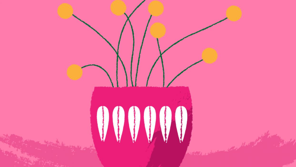 Midcentury Scandinavian in Pink - student project