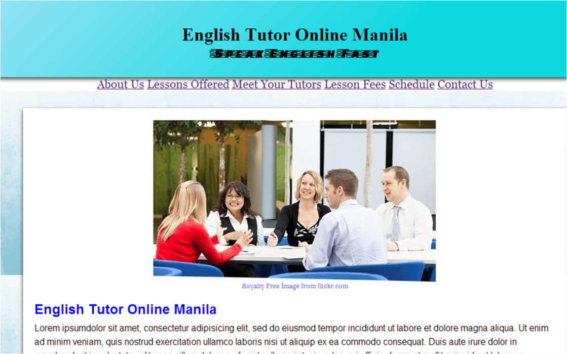English Tutor Online - student project