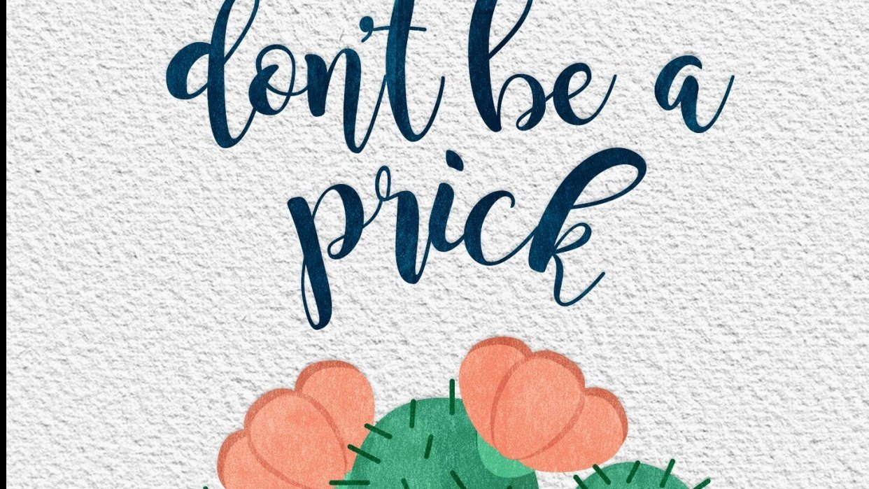 Don't be a Prick - student project