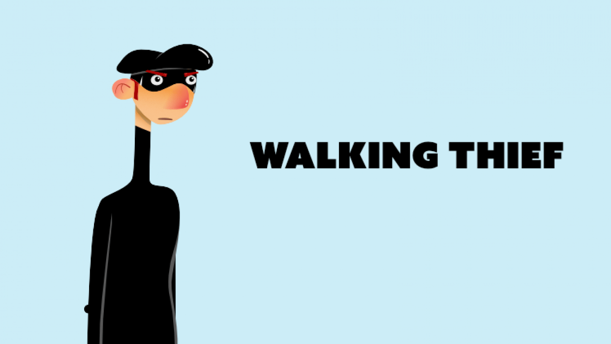 Walking thief - student project
