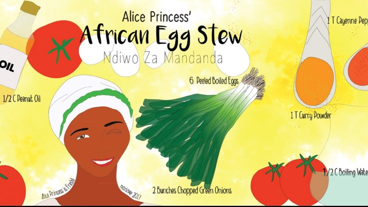 Alice Princess' African Egg Stew   Ndiwo Za Mandanda - student project