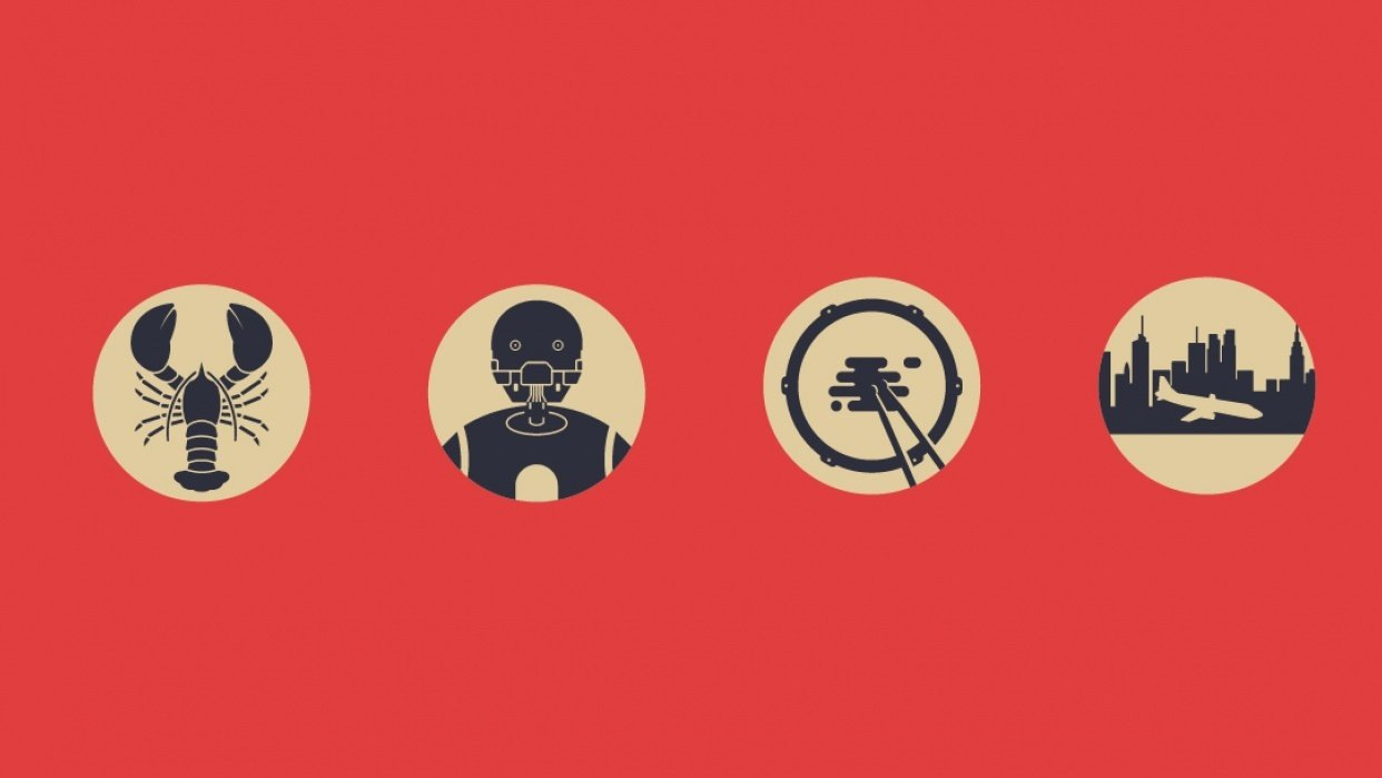 Single colour movie icones - student project