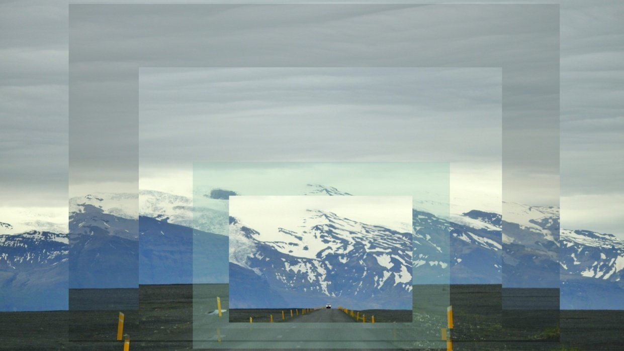 Iceland Ring Road, using GIMP - student project