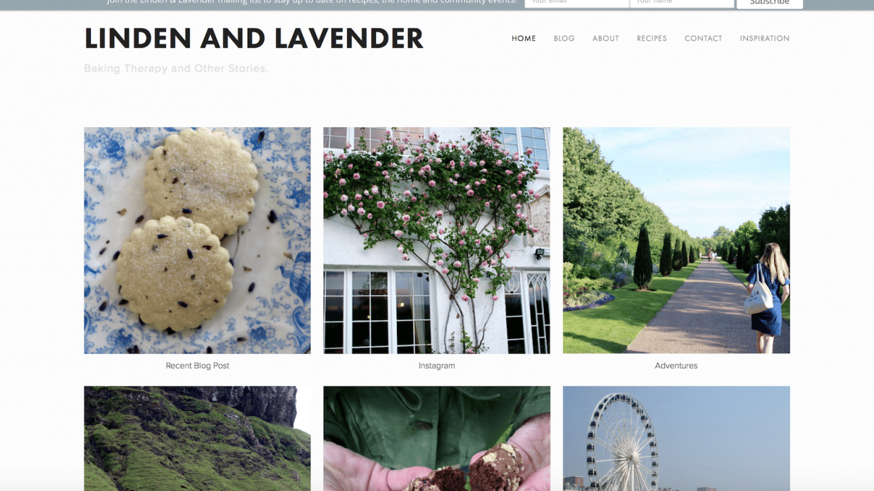 Linden & Lavender- Baking therapy and other stories - student project