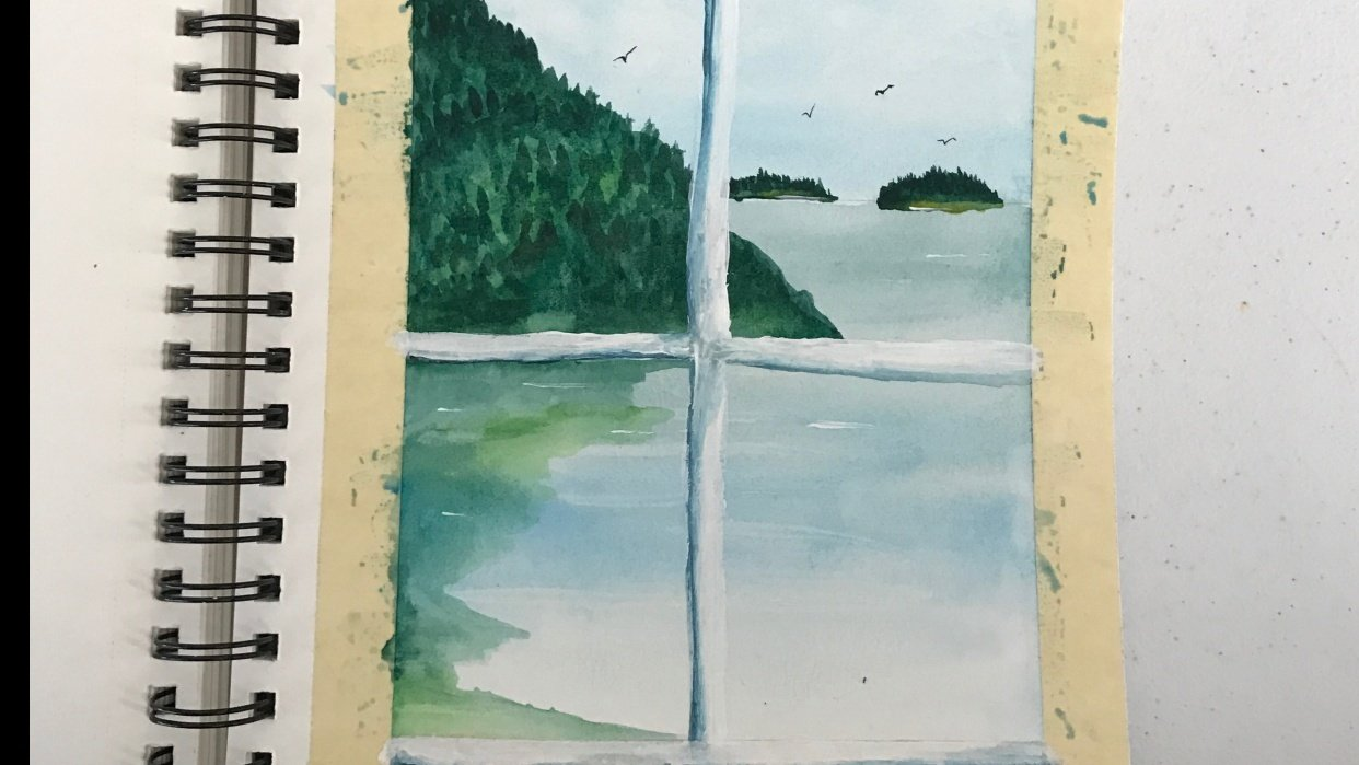 coastal painting - student project