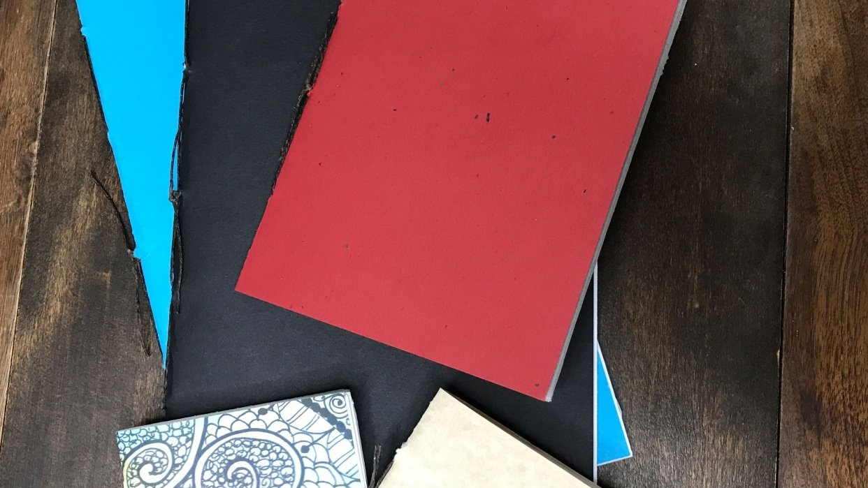 Make your own sketchbook or journal! - student project