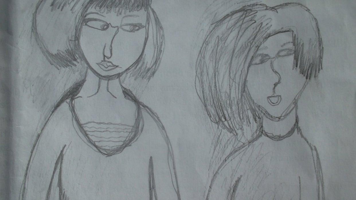 Les soeurs par Marilou, 14 ans - student project