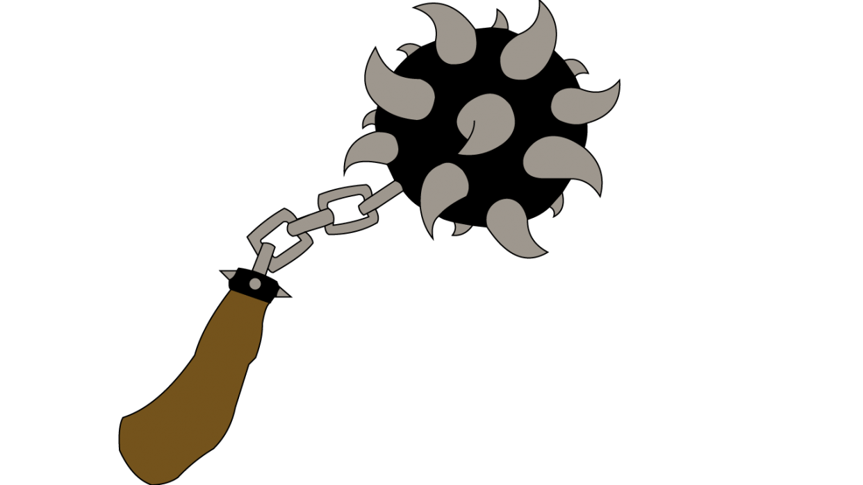 Mace Pin Design - student project