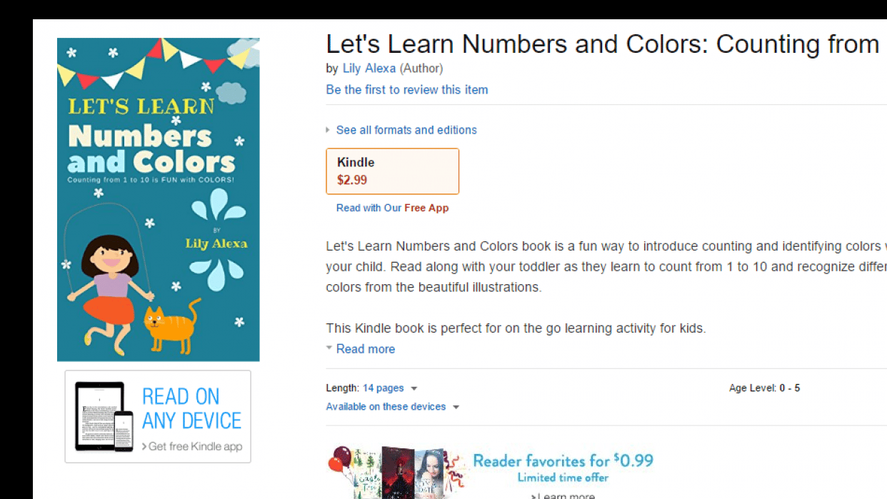 I Published My First Kindle Book - student project