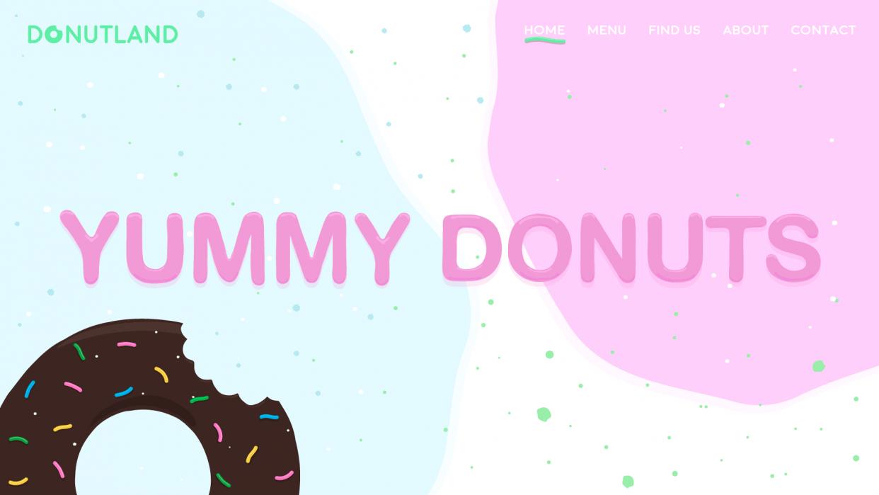 Random Donut Landing Page  - student project