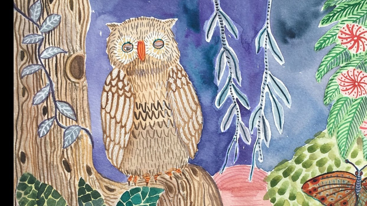 EllieP's textured owl - student project