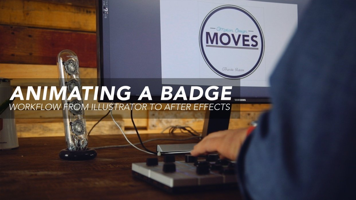 Animating A Badge: Workflow from Illustrator to After Effects - student project