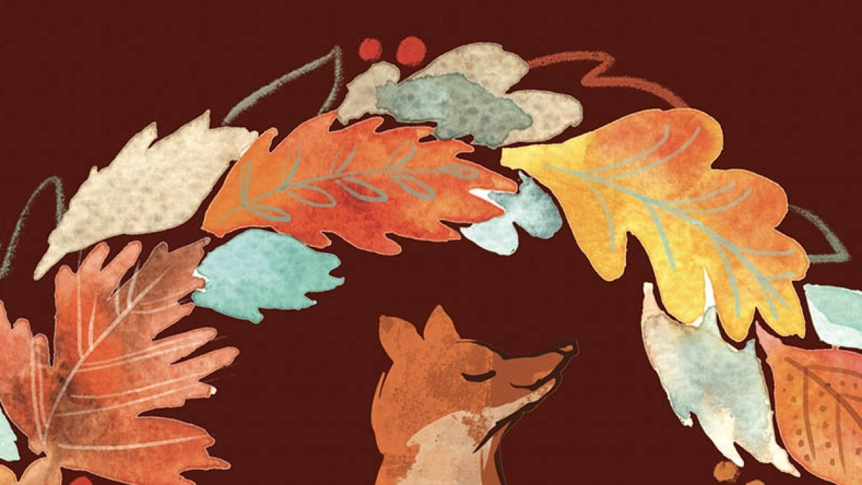 Autumn Wreath (and fox) - student project