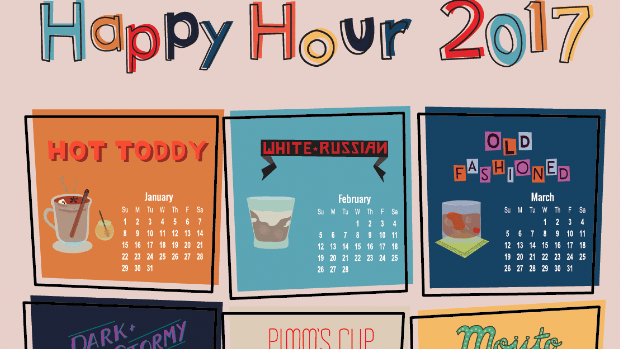 Happy Hour Calendar - student project
