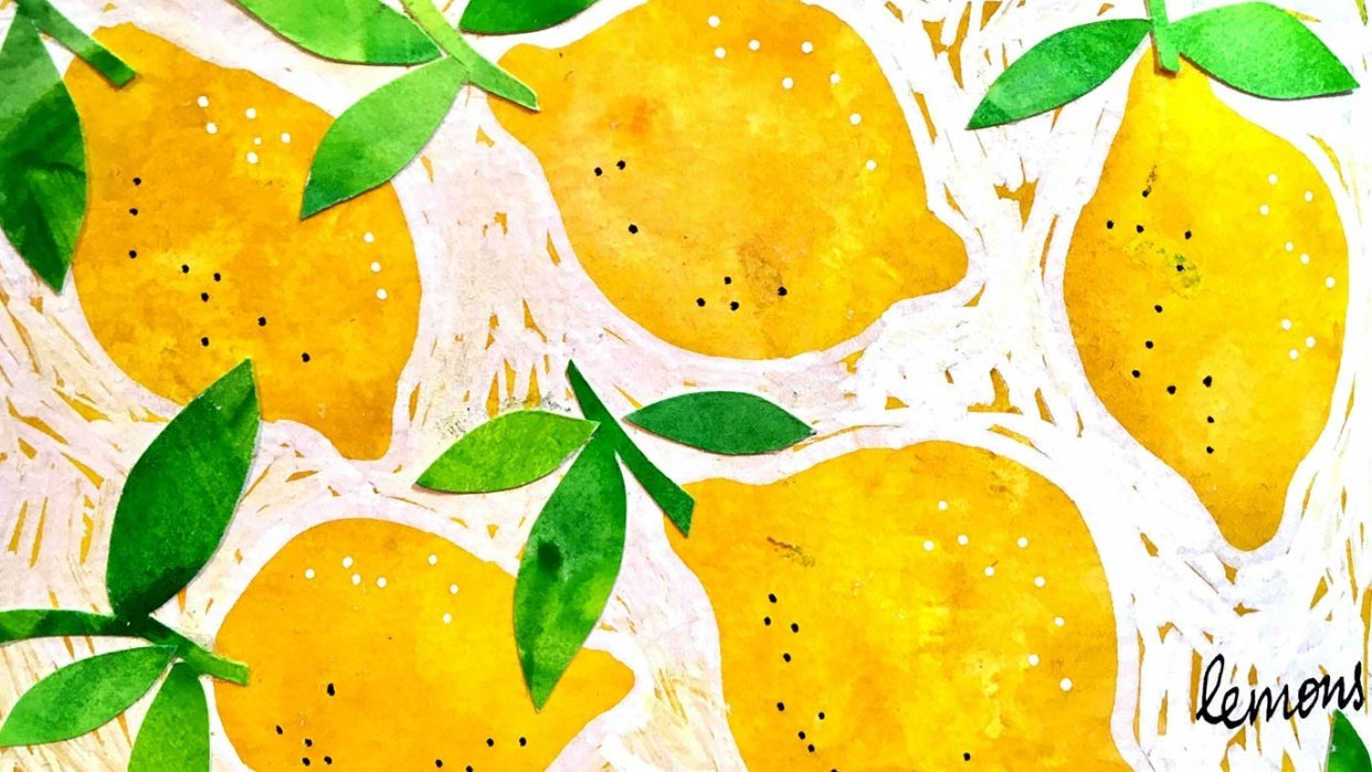 Zesty Lemons, sweet strawberries & fun florals - student project