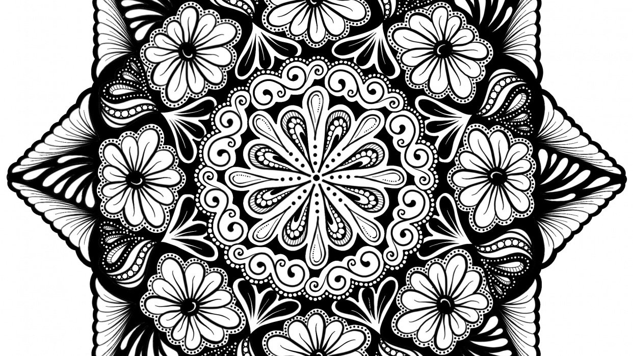 The Two Mandalas as Lineart and Beyond - student project
