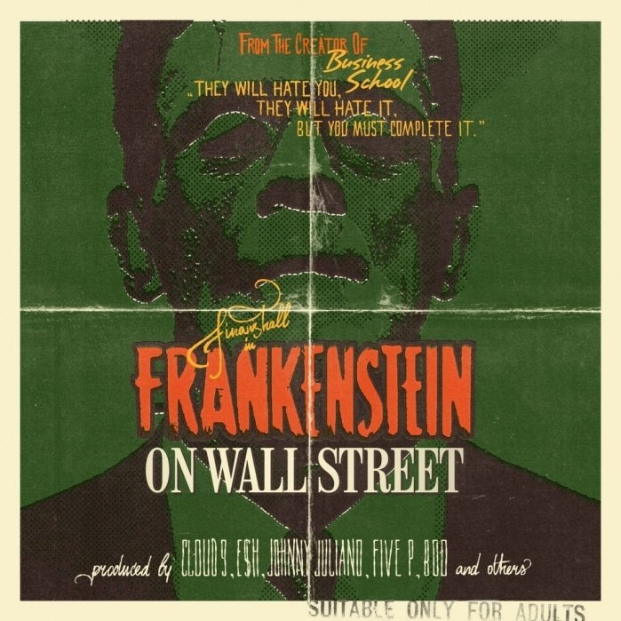 Frankenstein On Wall Street Album Ad/cover - student project