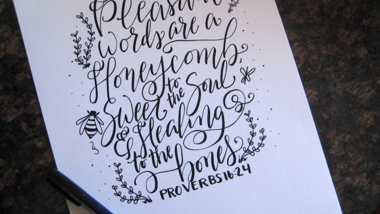Pleasant Words are a Honeycomb - student project