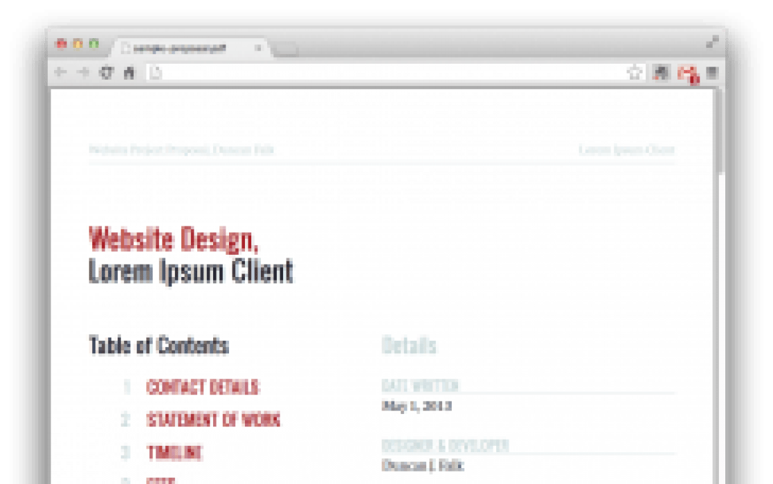 Contract & Proposal Draft (Web Oriented) - student project