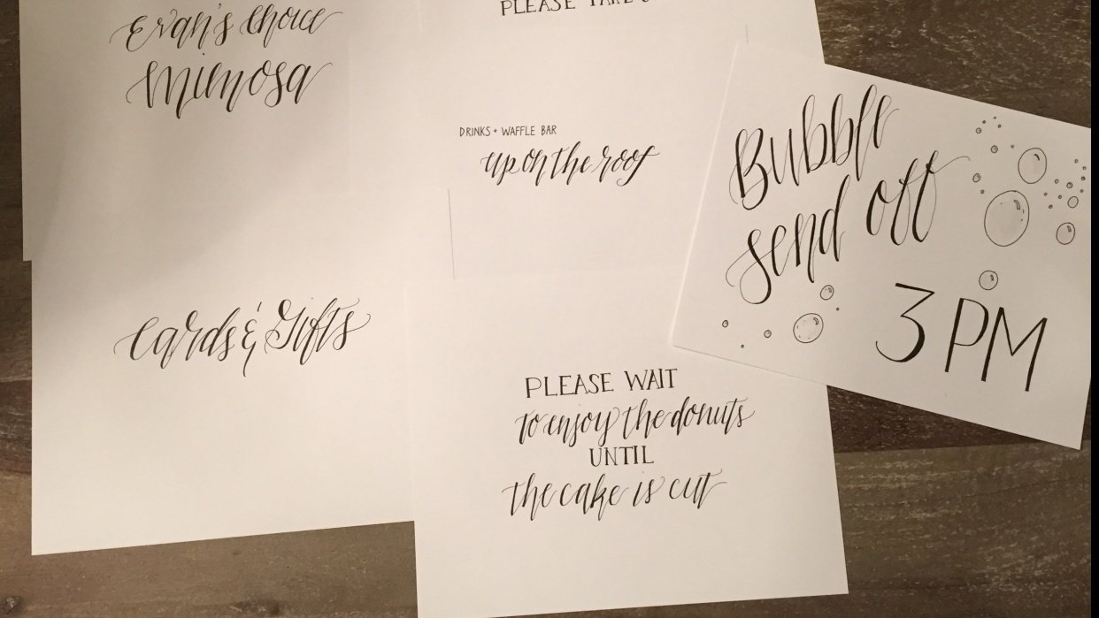 Wedding Signs - student project
