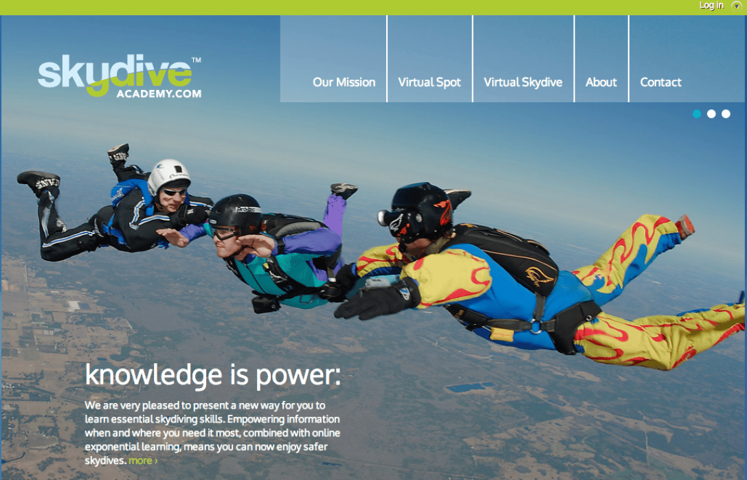 Skydiveacademy - student project