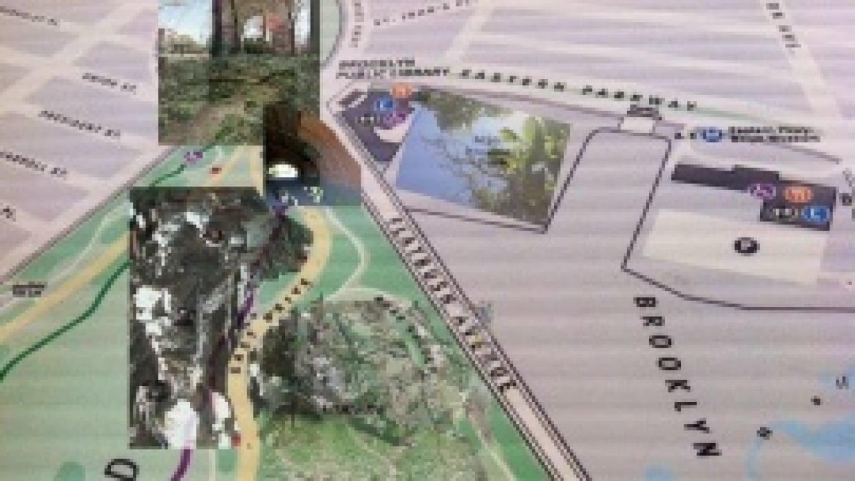 Sense Map of Secret places in Prospect Park  - student project